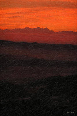 Abstract Landscape Wall Art - Photograph - Not Quite Rothko - Blood Red Skies by Serge Averbukh