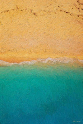 Abstract Landscape Wall Art - Photograph - Not Quite Rothko - Surf And Sand by Serge Averbukh