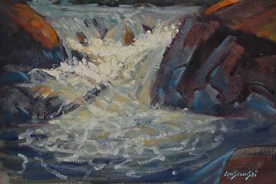 Painting - Notch Falls by Len Stomski
