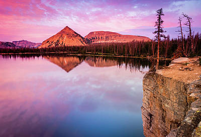 Photograph - Notch Lake Sunset by Johnny Adolphson