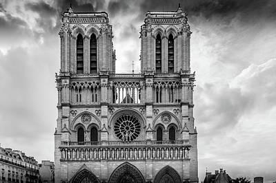 Notre Dame Architecture Art Print by Georgia Fowler