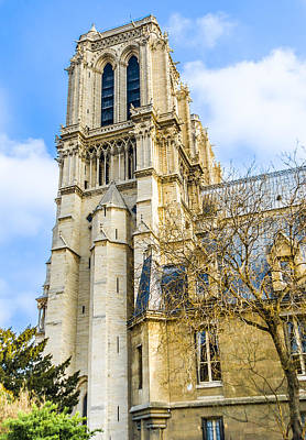 Photograph - Notre Dame Cathedral Bell Tower - Paris Landmark by Nila Newsom