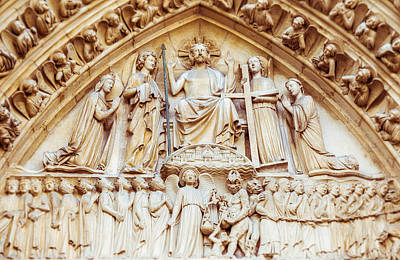Photograph - Notre Dame Cathedral Portal Of The Final Judgement by Nila Newsom
