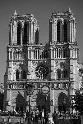 Medieval Temple Photograph - Notre Dame Cathedral In Black And White by Patricia Hofmeester