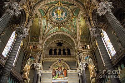 Lyon France Photograph - Notre Dame De Fourviere by Timothy Johnson