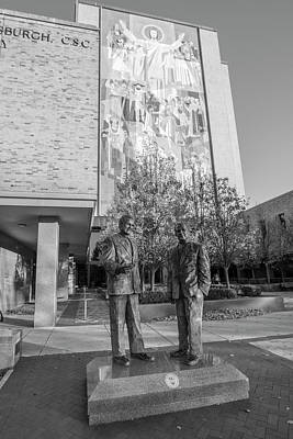 Photograph - Notre Dame Library And Statue  by John McGraw