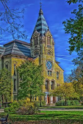 Notre Dame University Art Print by Mountain Dreams