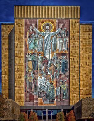 Notre Dame's Touchdown Jesus Art Print by Mountain Dreams