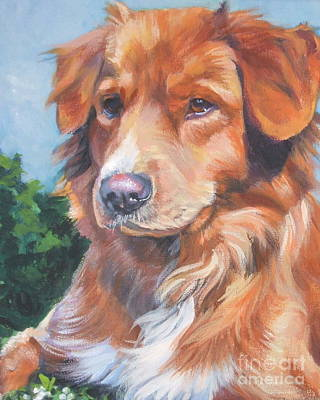 Nova Scotia Wall Art - Painting - Nova Scotia Duck Tolling Retriever by Lee Ann Shepard