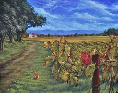 California Vineyard Painting - November Vineyard by Daniel Bosler