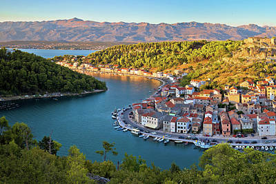 Photograph - Novigrad Dalmatinski Bay Panoramic View by Brch Photography