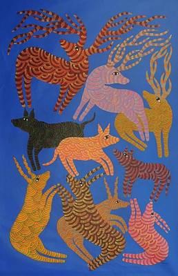 Gond Art Painting - Npt 93 by Narmada Prasad Tekam
