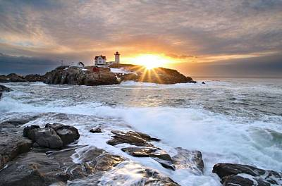 Photograph - Nubble Light by Andrea Galiffi