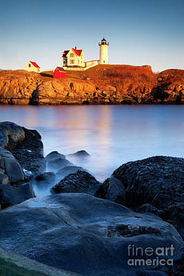 Nubble Lighthouse Art Print by Brian Jannsen