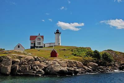Nubble Lighthouse Art Print by Luisa Azzolini