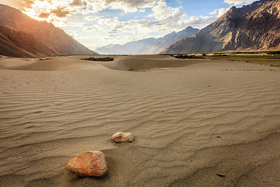Photograph - Nubra Valley Sand Dunes by Alexey Stiop
