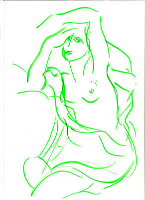 Nude By Jean-baptiste Greuze Revisited Original
