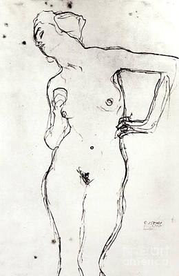 Venus Drawing - Nude by Gustav Klimt