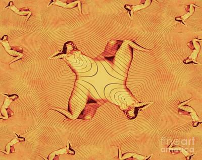 Surrealism Royalty-Free and Rights-Managed Images - Nude in the Style of Escher by Mb by Mary Bassett