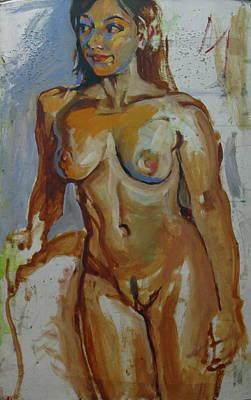 Nude Portrait Of A Art Print by Piotr Antonow