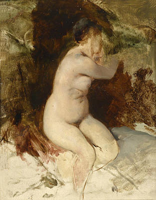 Painting - Nude Study by Friedrich August von Kaulbach