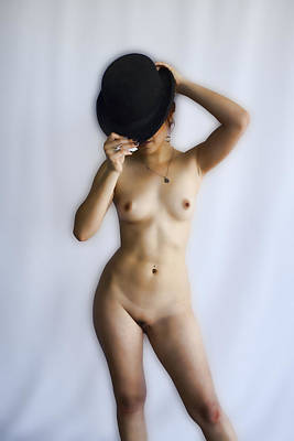 Hat Photograph - Nude With Bowler Hat by Hugh Smith