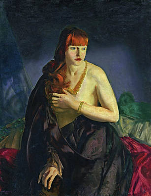 With Red Photograph - Nude With Red Hair by George Bellows