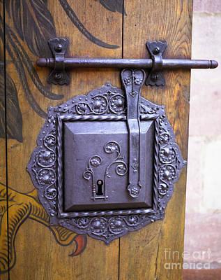 Photograph - Nuremberg Castle Door Lock by John Bowers