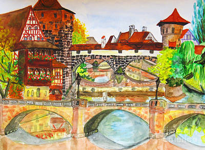 Painting - Nuremberg, Germany by Irina Afonskaya