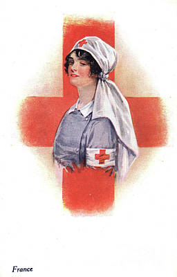 Drawing - Nurse, C1914.  by Granger