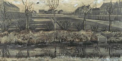 Van Gogh Drawing - Nursery On Schenkweg by Vincent van Gogh