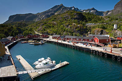 Nusfjord Fishing Village Art Print