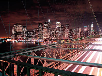 Nyc Night Lights Art Print by Nina Papiorek