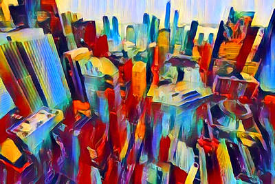 Abstract Skyline Rights Managed Images - NYC View Royalty-Free Image by Chris Butler