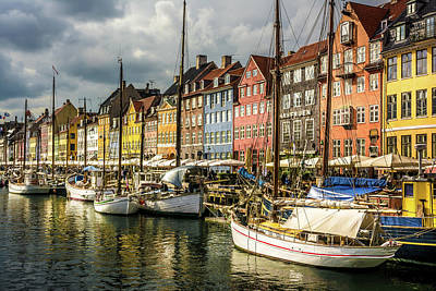 Photograph - Nyhavn by Andrew Matwijec