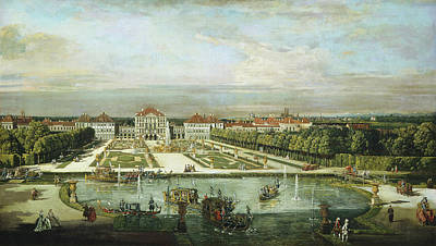 Painting - Nymphenburg Palace, Munich by Bernardo Bellotto