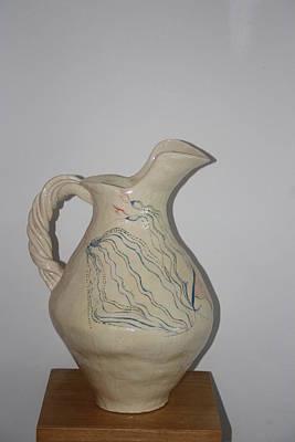 Ceramic Art - Nze Jug by Gloria Ssali