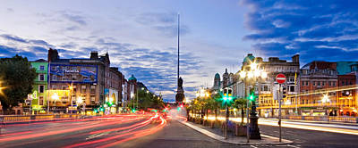 Photograph - O' Connell Bridge At Night - Dublin by Barry O Carroll
