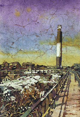 Painting - Oak Island Lighthouse by Ryan Fox