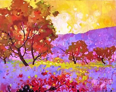 Painting - Oaks In Dream by Celine  K Yong