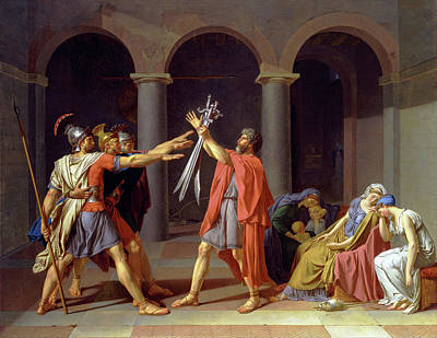 David Painting - Oath Of The Horatii by Jacques-Louis David