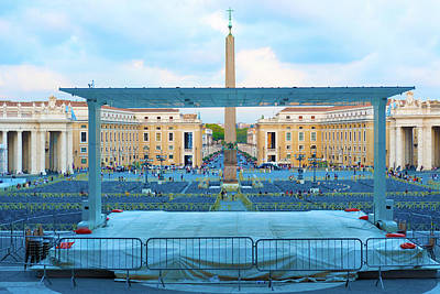Photograph - Obelisk At Saint Peter Square In Rome, Italy. by Marek Poplawski
