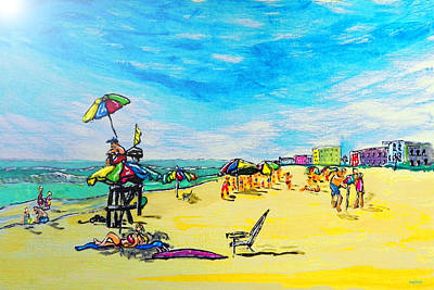 Gods Sunshine Art Painting - ocean/ Beach by W Gilroy