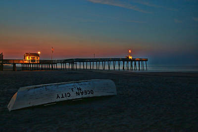 Photograph - Ocean City  N J Sunrise by Allen Beatty