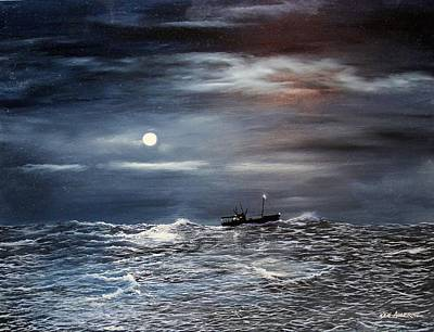 Painting - Ocean Moon by Ken Ahlering
