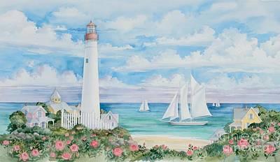 Ocean View Lighthouse Art Print