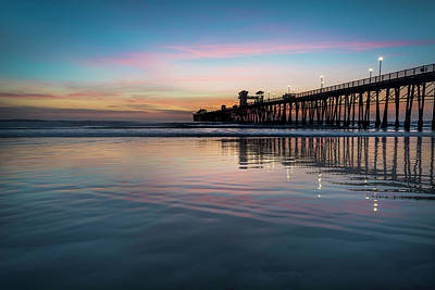 Ocean Sunset Photograph - Oceanside Pier Sunset by Larry Marshall