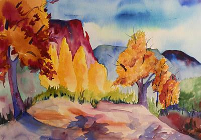 October At Ghost Ranch Art Print