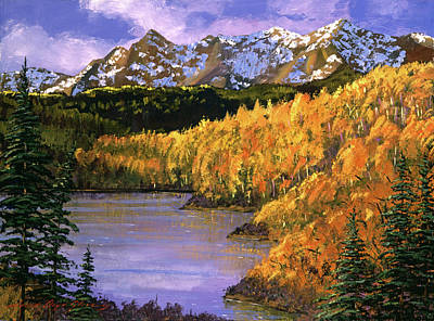 Pine Tree Painting - October Colors by David Lloyd Glover