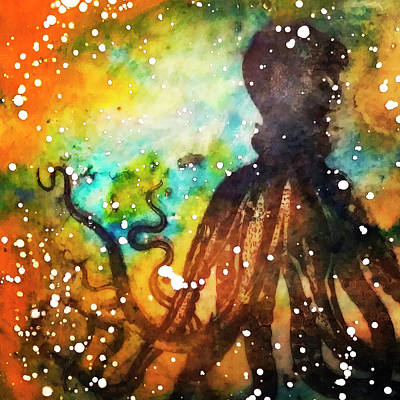 Mixed Media - Octopus by Eliaichi Kimaro